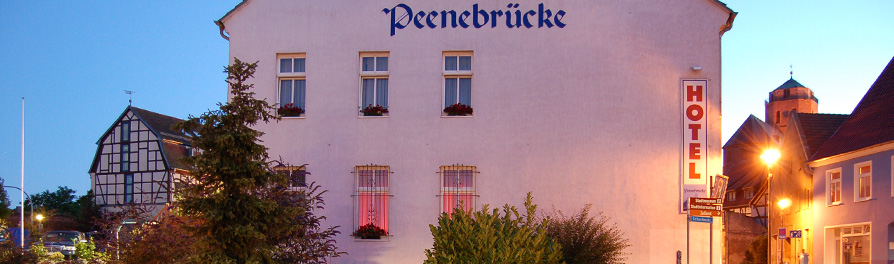 "Hotel ""Peenebrücke"" in Wolgast Gate to the Island Usedom!"